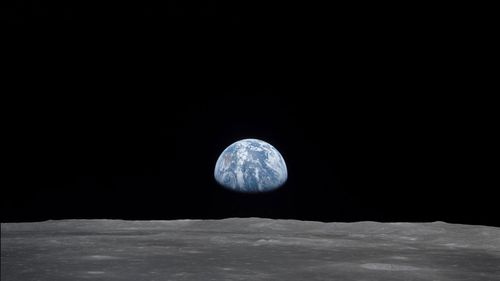 The Earth as seen from the Moon.