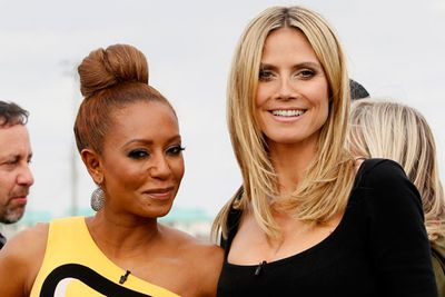 Spice Girl <b>Mel B</b> befriended model <b>Heidi Klum</b> and they still find time to party together. Spicy! Pic: Getty