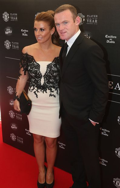 Coleen Rooney with husband Wayne