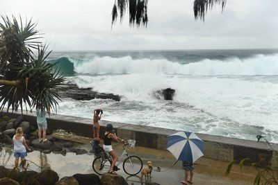 Cyclone Oma could change direction at any moment