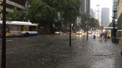 Heavy rain made the streets in the CBD all but impassable. (Brentus)