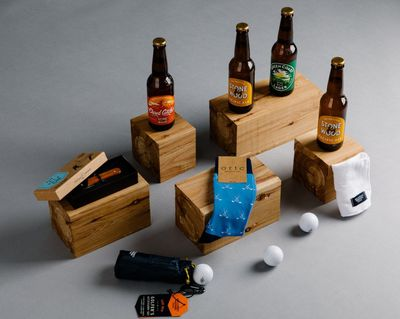 Golfing accessories, plus more beer