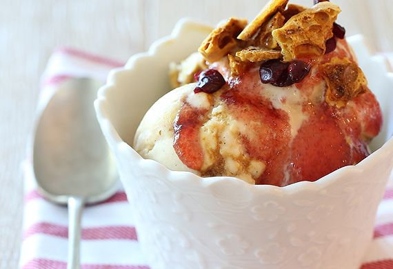 Cranberry caramel hokey pokey ice-cream