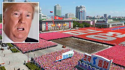 North Korean military parade a 'positive statement', Trump says