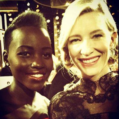 Lupita Nyong'o meets her acting hero Cate Blanchett