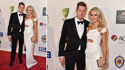All-rounder James Faulkner and Bri Sheppard. (AAP)
