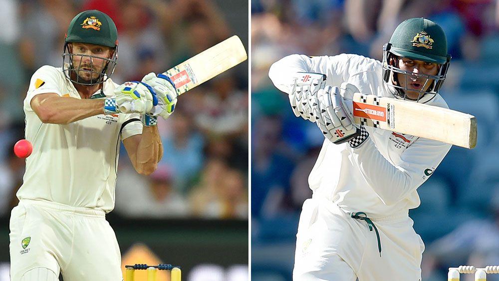 Shaun Marsh (l) and Usman Khawaja. (AAP)