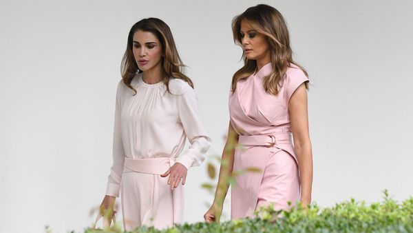 Melania Trump and Queen Rania of Jordan
