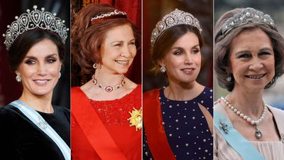 The tiara worn by the women of the Spanish royal family
