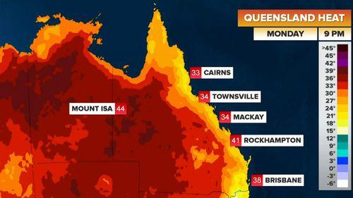 Temperatures will soar in Queensland