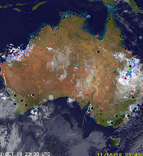 The whole of Australia has showers forecast over the next few days.