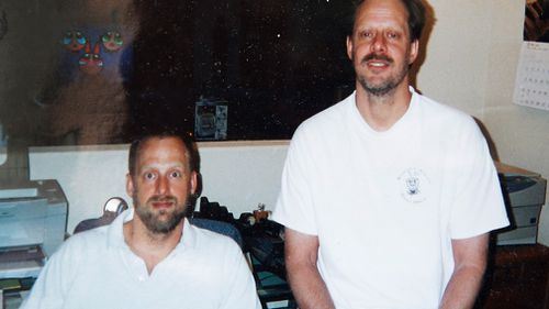 Shooter Stephen Paddock (right) with his brother Eric. (AFP)