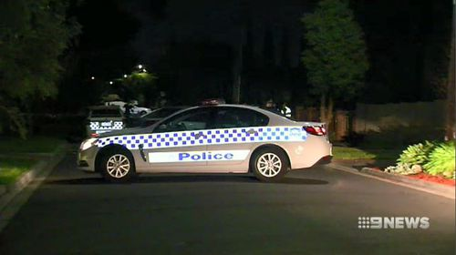 A pizza delivery was interrupted last night by two gunmen who fired shots into a Melbourne home around 1.45am. Picture: 9NEWS.
