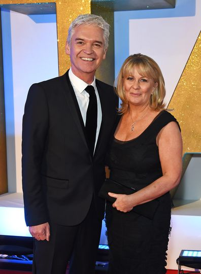 Phillip Schofield and wife Stephanie Lowe attend the 21st National Television Awards at The O2 Arena on January 20, 2016 in London, England.