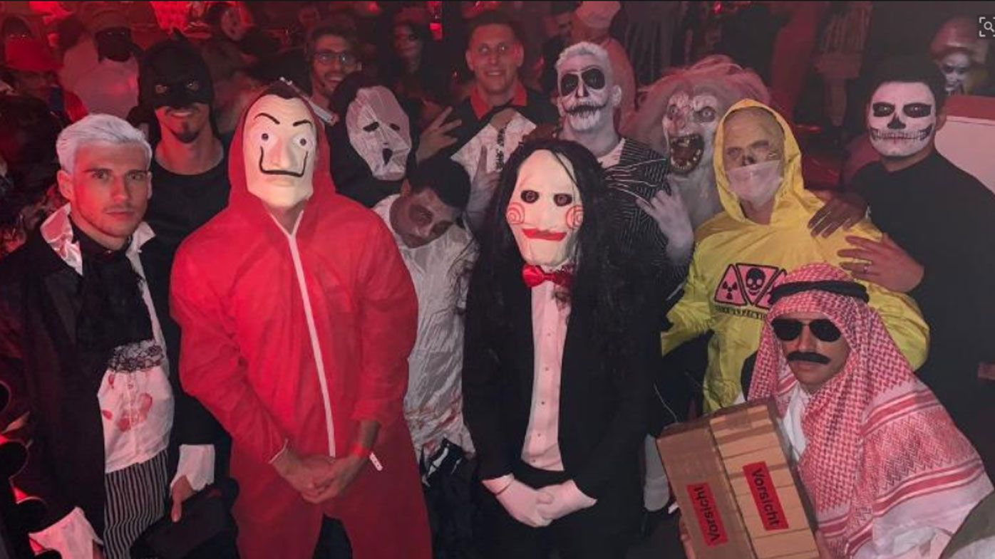 Bayern Munich accused of racism after controversial Halloween pic