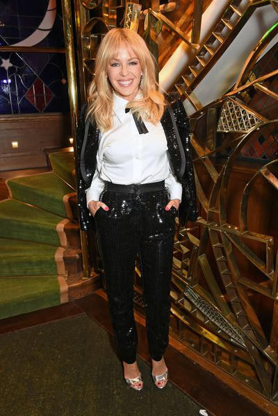 Kylie Minogue in Dolce & Gabanna  at The Ivy in London in December, 2016