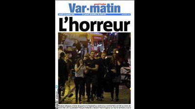 French newspaper<em>Var-matin </em>ran 'Horror'.