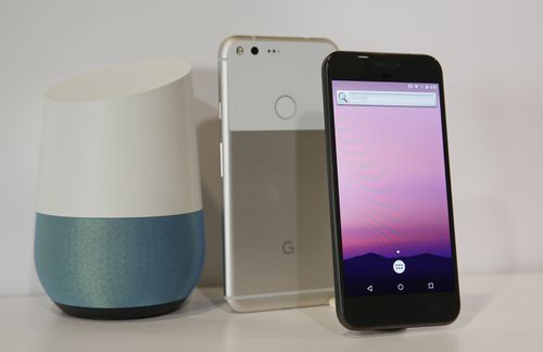 A Google Home unit on display. Picture: AAP