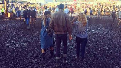 Rain has turned this year's festival into one giant mud pit - Source: reneenadin (Instagram).