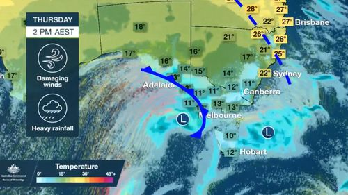 Polar blast are bearing down on eastern Australia.