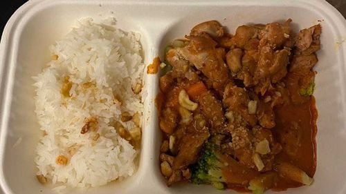 The meals in hotel quarantine in Queensland.