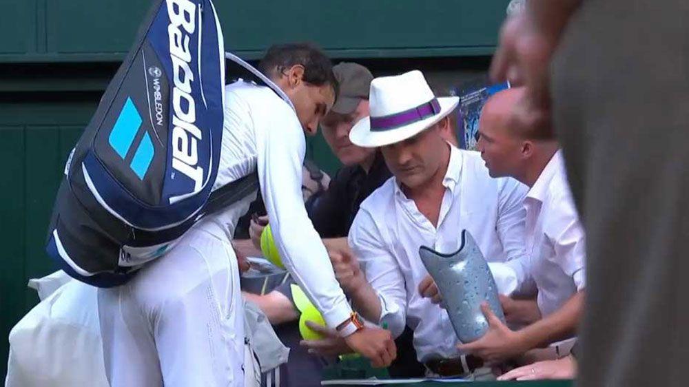 Tennis fan asks Rafael Nadal to sign prosthetic leg after Wimbledon win