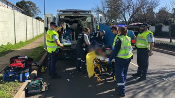 A teenage boy has critical head injuries after crashing his motorbike into a tree in Quakers Hill in Sydney's north-west.