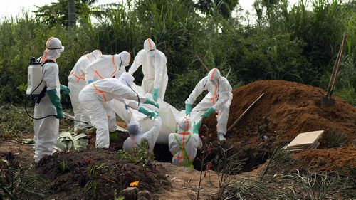 Graves are dug to bury Ebola victims in Beni, Democratic Republic of Congo.