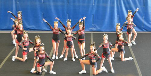 The Ignite team from Extreme Cheer Allstars in Canning Vale received a perfect score to become the first Australian squad to compete in a major US cheerleading event. (Extreme Cheer Allstars)