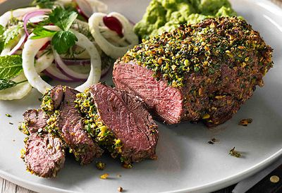 <strong>Herb and pistachio lamb rump</strong>