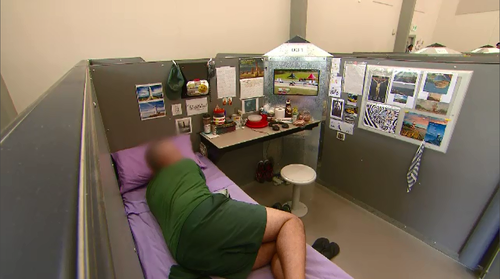Maximum security inmates have access to a number of comforts.