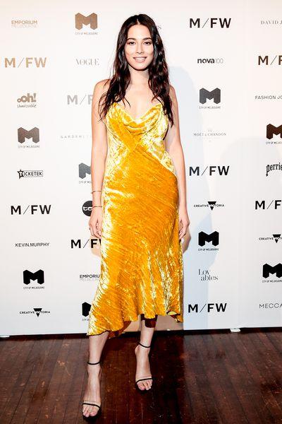 Jessica Gomes at Melbourne Fashion Week September 2018