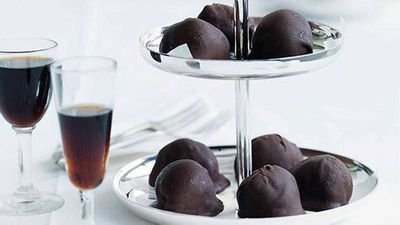 <strong>Dark chocolate-dipped espresso ice-cream balls</strong>
