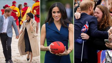 Beach walks, footy and joyous fans as Meghan and Harry hit Melbourne