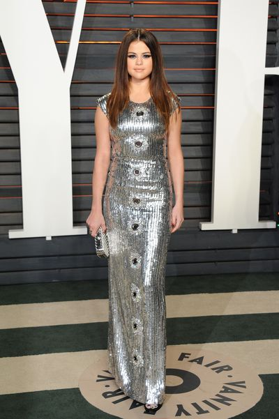 Selena Gomez in Louis Vuitton at the 2016 Vanity Fair Oscar Party