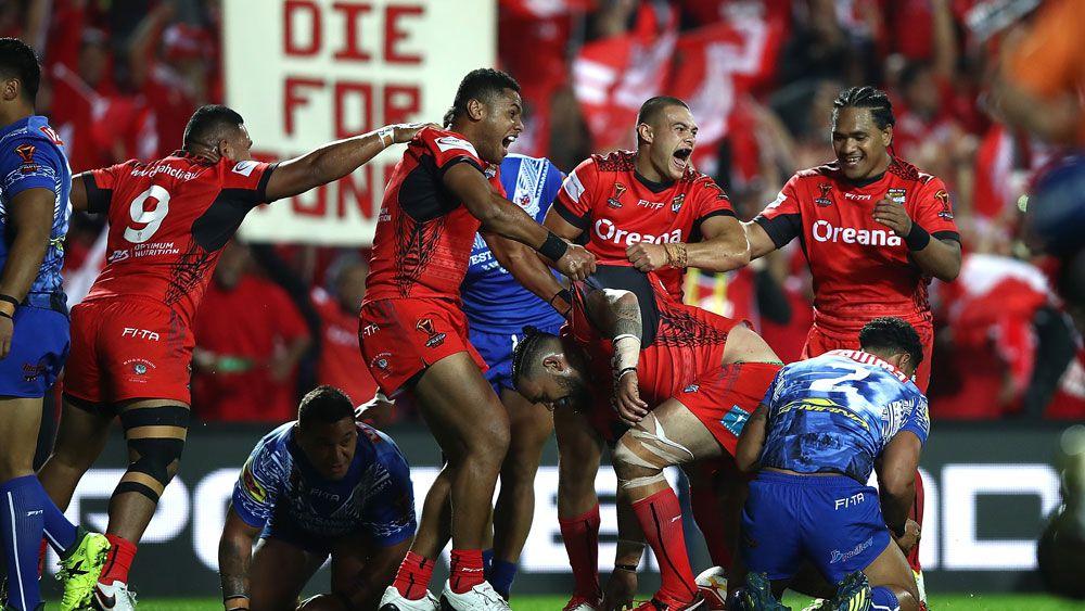 Tonga players.