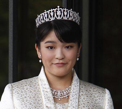 Princess Mako wearing a tiara