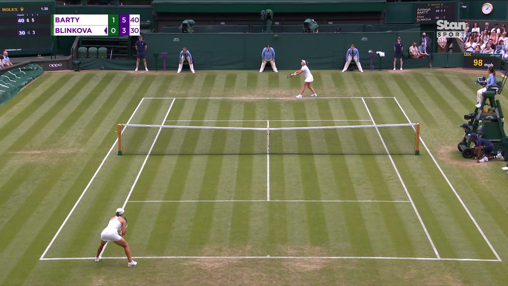 Wimbledon 2021: 'Sloppy' Ash Barty avoids upset trend to reach third round at Wimbledon