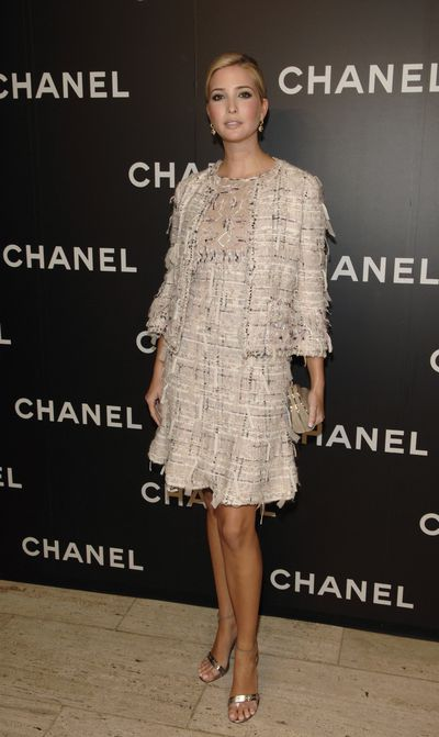 Ivanka Trump wearing Chanel at Chanel Celebrates Its Elements Celestes Fine Jewelry Exhibition, New York City.