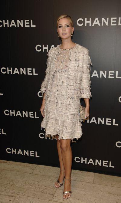 Ivanka Trump wearing Chanel at Chanel Celebrates Its Elements Celestes Fine Jewelry Exhibition, New York City.