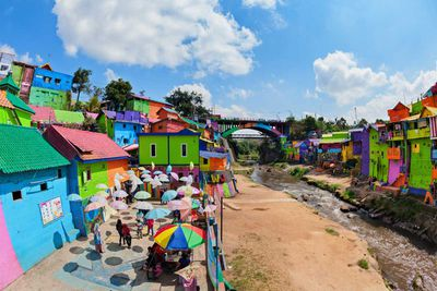 Jodipan colourful village, Indonesia