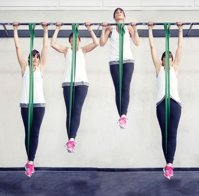 <strong>...band assisted pull-ups.</strong>