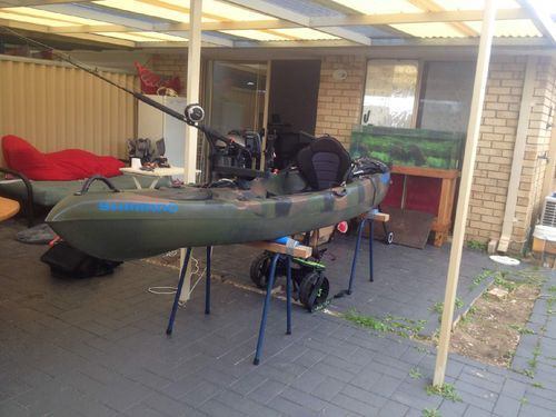 His army green kayak was strapped to the car when it was taken by the thieves. Picture: 9NEWS