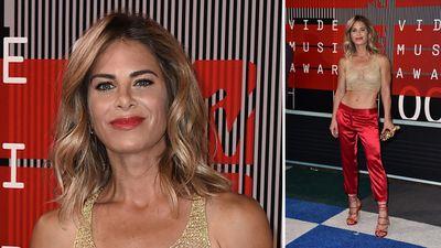 Biggest Loser trainer Jillian Michaels wears the pants on the VMAs red carpet. (AAP)