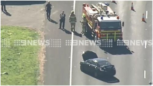 A Newport man has been arrested after driving down the wrong side of the Western Ring Road. (9NEWS)