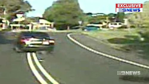 Dashcam video shows Chandler escaping after the fatal collision. Picture: 9NEWS
