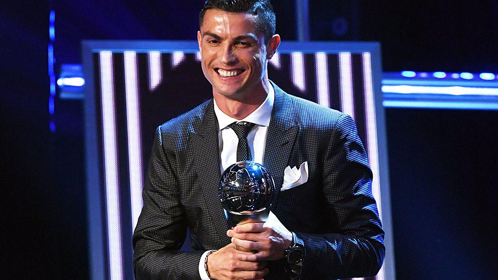 Football: Cristiano Ronaldo wins FIFA Player of the Year award