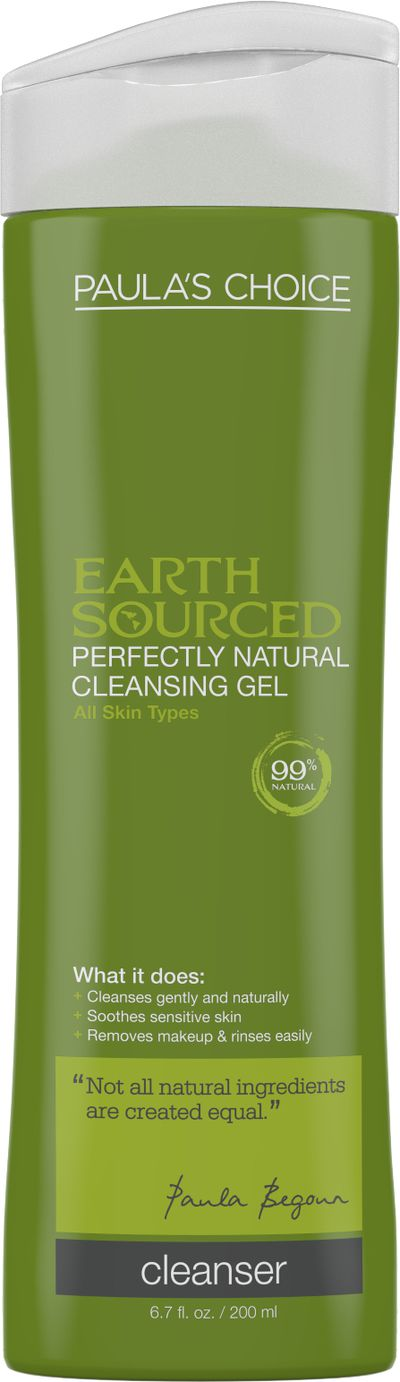 "<a href=""http://www.paulaschoice.com.au/shop/skin-care-categories/cleansers/_/Earth-Sourced-Perfectly-Natural-Cleansing-Gel/"" target=""_blank"">Paula's Choice Earth Sourced Perfectly Natural Cleansing Gel, $32.</a>"