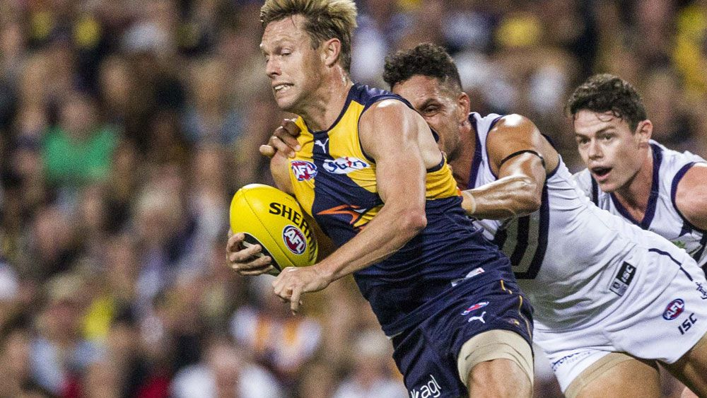Sam Mitchell in action during his first Derby. (AAP)