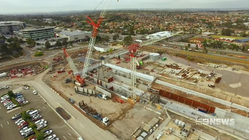 The promises included $3b for the Sydney Metro West project. Picture: 9NEWS